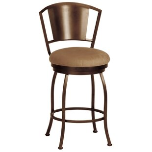 Leia Swivel Bar  Counter Stool by Alcott Hill