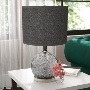 Compare prices Cleavenger 22 Table Lamp with Drum Shade By Willa Arlo Interiors