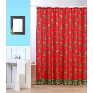 Oreilly Christmas Holly Single Shower Curtain