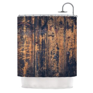 Barn Floor By Susan Sanders Rustic Shower Curtain