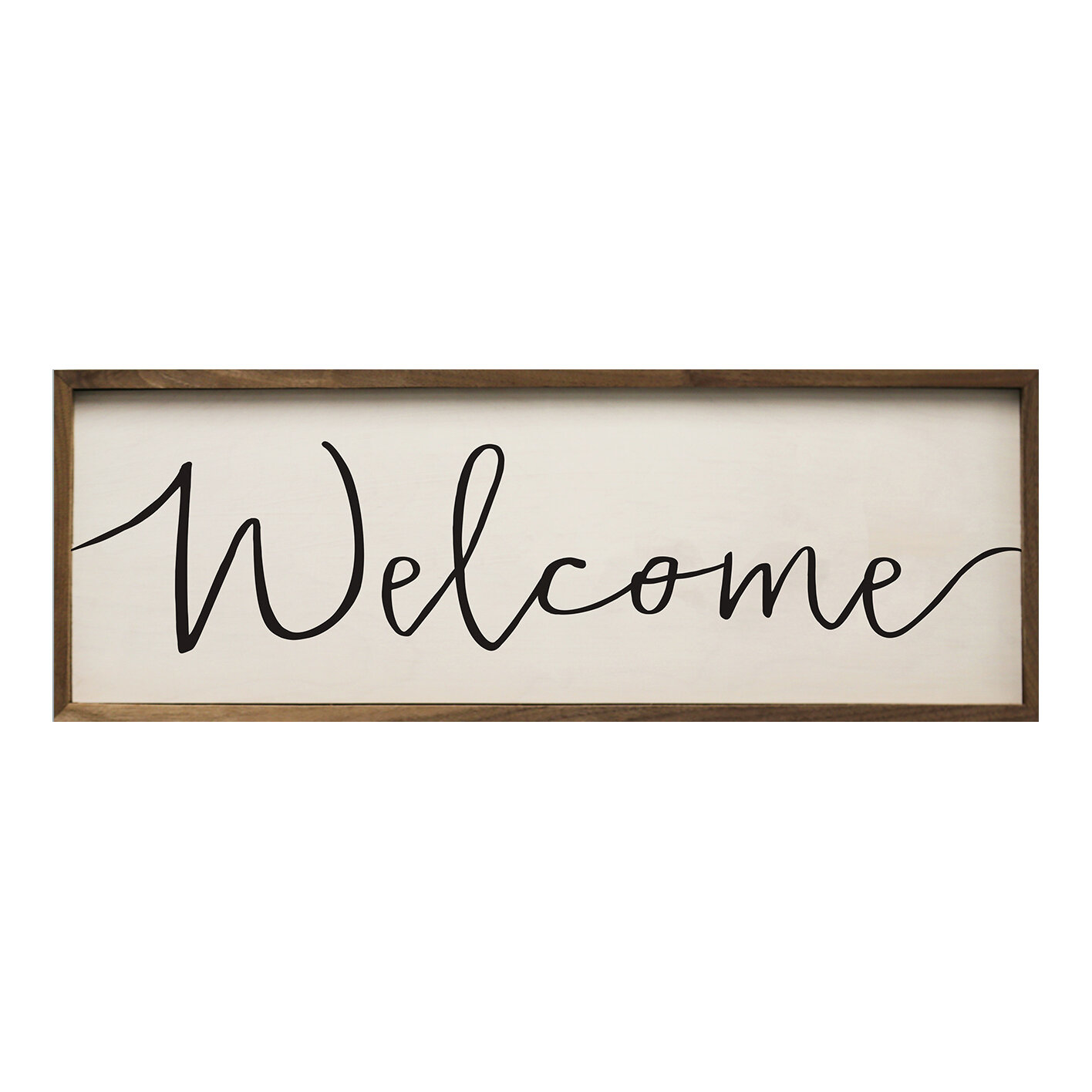Union Rustic Simple Welcome By Morgan Larue Picture Frame Textual Art Print On Wood Reviews Wayfair