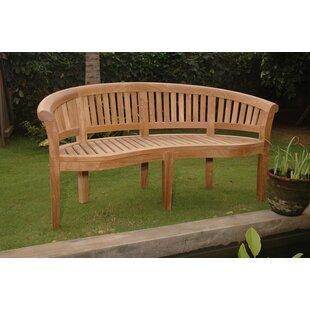 Curve Teak Garden Bench by Anderson Teak