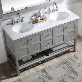 Gracie Oaks Schmidt 60 Double Bathroom Vanity Set Wayfair