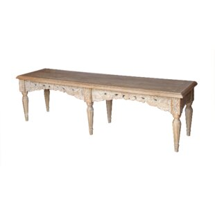 Bergeronnes Belle French Weathered Bench By Lily Manor