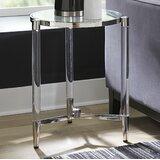 Laurette Glass Top 3 Legs End Table by Orren Ellis