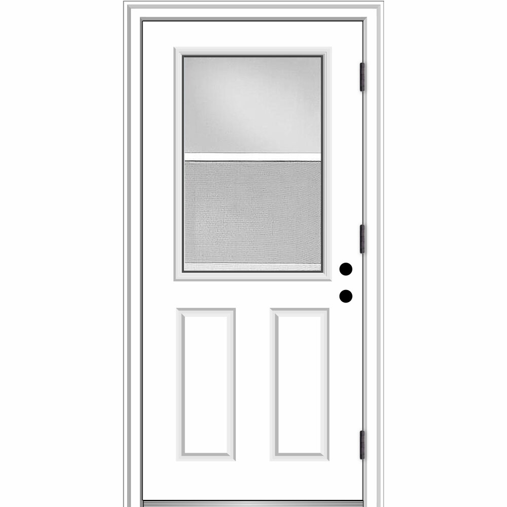Verona Home Design Venting Primed Fiberglass Prehung Front Entry Door |  Wayfair