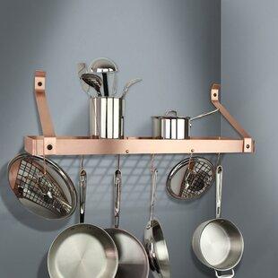 Handcrafted Gourmet Deep Wall Mounted Pot Rack
