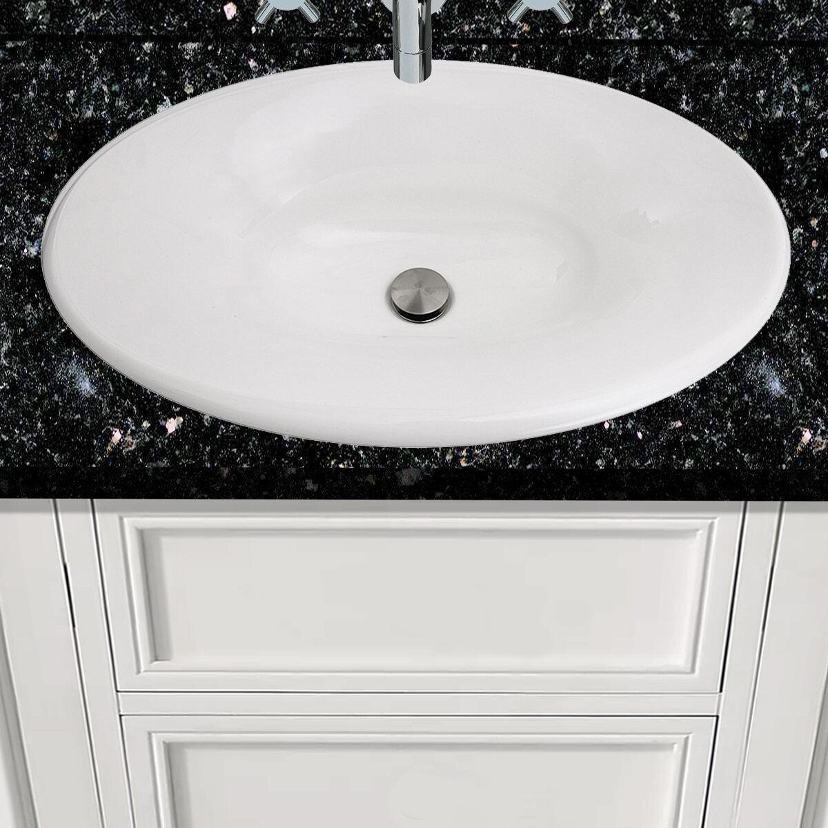 Nantucket Sinks Regatta Fireclay Oval Drop In Bathroom Sink Perigold