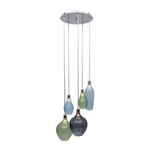 Brayden Studio Corrales Glass 5-Light Cluster Pendant