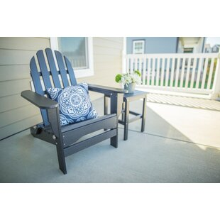 Mackey Plastic Folding Adirondack Chair with Table