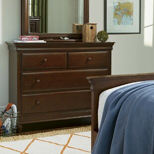 Chassidy 4 Drawer Cherry Dresser by Harriet Bee