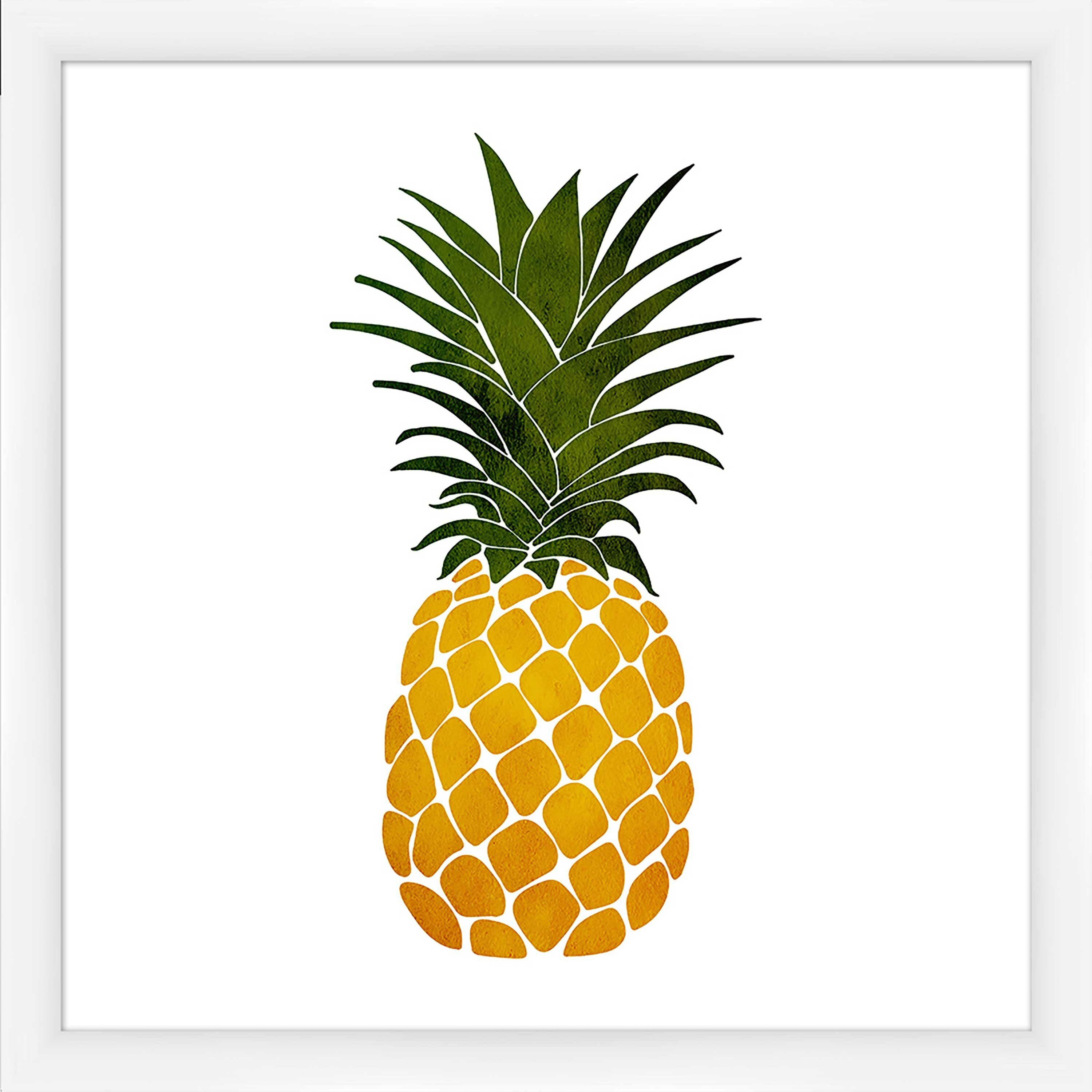 Ptm Pineapple Picture Frame Graphic Art Print On Canvas Wayfair