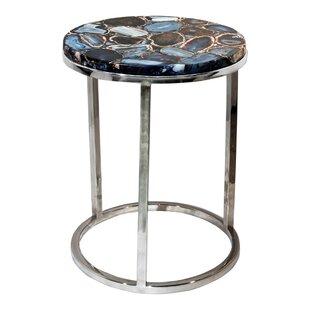 Bethlehem Agate End Table by Everly Quinn