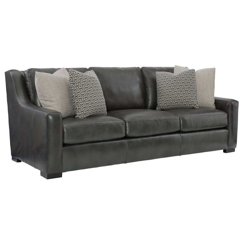 Bernhardt Germain 93 Leather Sofa