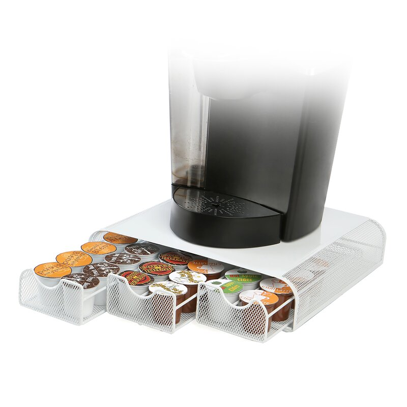 Triple Drawer Mesh K Cup Single Serve Coffee Pod Storage