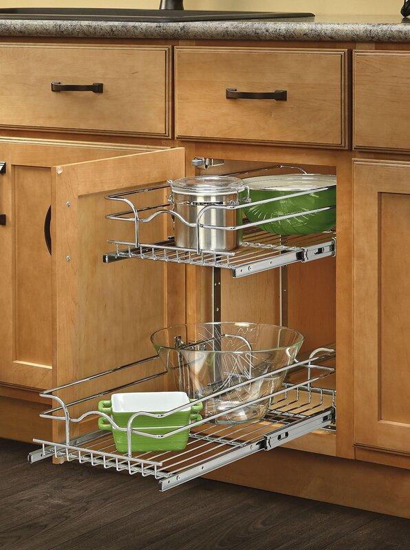 Rev-A-Shelf Two Tier Wire Basket & Reviews | Wayfair