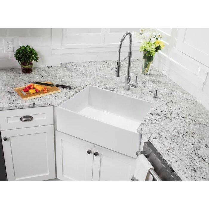 24 L X 18 W Farmhouse Apron Kitchen Sink