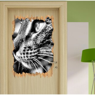 Graceful Cat Wall Sticker By East Urban Home