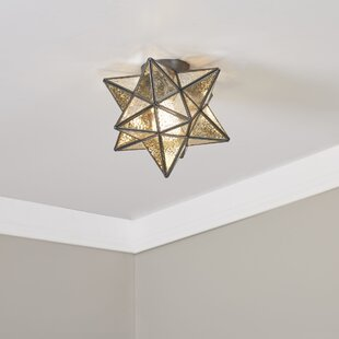 Reviews Nikki 1-Light Flush Mount By Laurel Foundry Modern Farmhouse