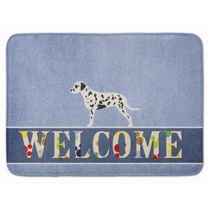 Dalmatian Welcome Memory Foam Bath Rug
