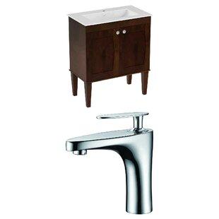 Hindman 25 WallMounted Single Bathroom Vanity Set