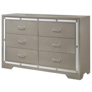 House of Hampton Money 6 Drawer Double Dresser