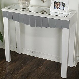 Heather Ann Creations Catherine Mirrored Console Table