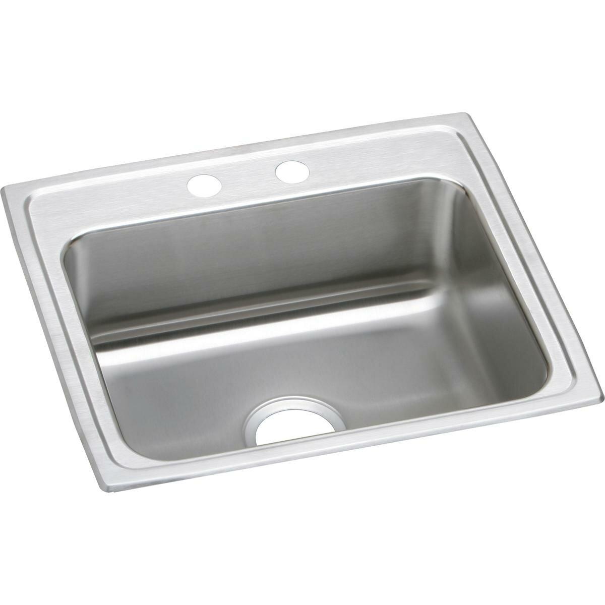 Elkay Lustertone 22 L X 20 W Drop In Kitchen Sink Wayfair