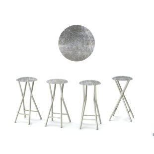 Errol 30'' Patio Bar Stool with Cushion (Set of 4)