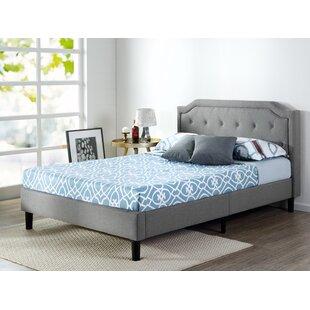 Scalloped Upholstered Platform Bed