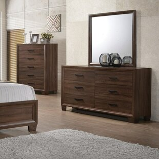 Casa 6 Drawer Double Dresser with Mirror