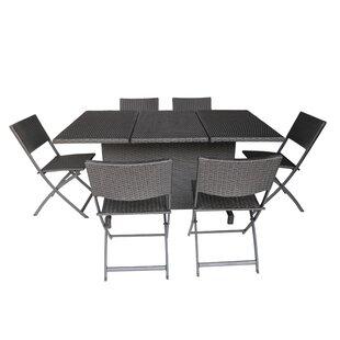 Ebern Designs Gleisner 7 Piece Dining Set