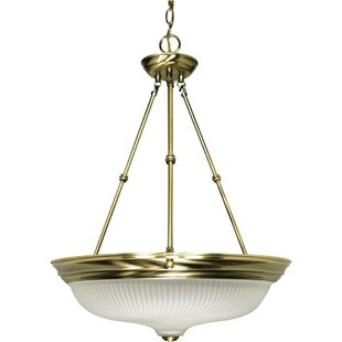 Breakwater Bay Clarewood Traditional 3-Light Bowl Pendant
