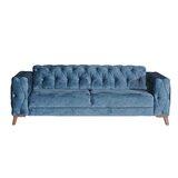 Burgett Full 90.5 Tufted Back Convertible Sofa by Everly Quinn
