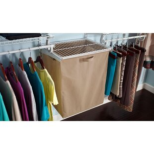 Shelf Track Laundry Hamper 50cm Wide Clothes Storage System By Closetmaid
