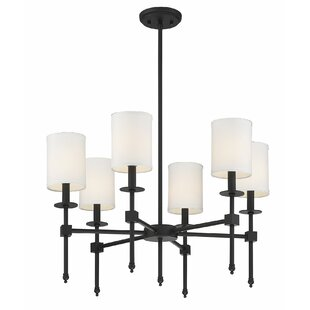 Neville 6-Light Shaded Chandelier by Wrought Studio