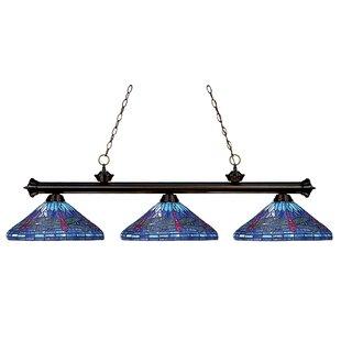 August Grove Earleville 3-Light Billiard Light