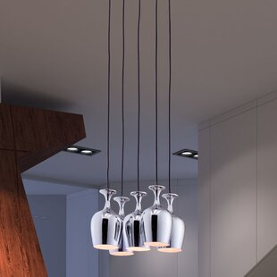 Ice 5-Light Cluster Pendant by dCOR design