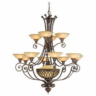 Astoria Grand Randall 12-Light Shaded Chandelier