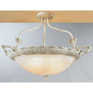 Classic Lighting Montego Bay 4-Light Semi Flush Mount