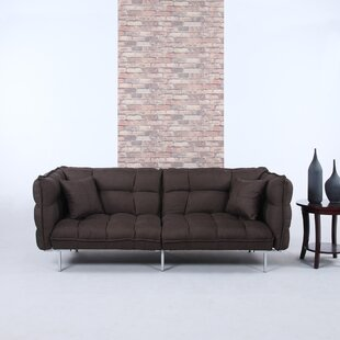 Modern Plush Tufted Linen Splitback Living Room Sleeper Sofa