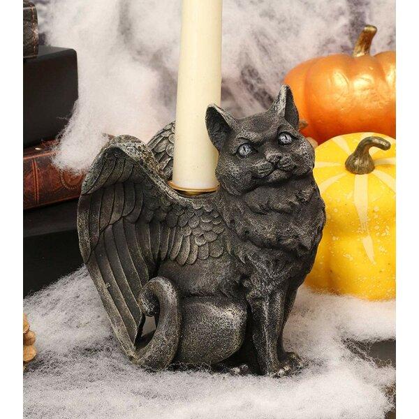 The Holiday Aisle Gothic Angel Winged Gargoyle Candle Holder Wayfair