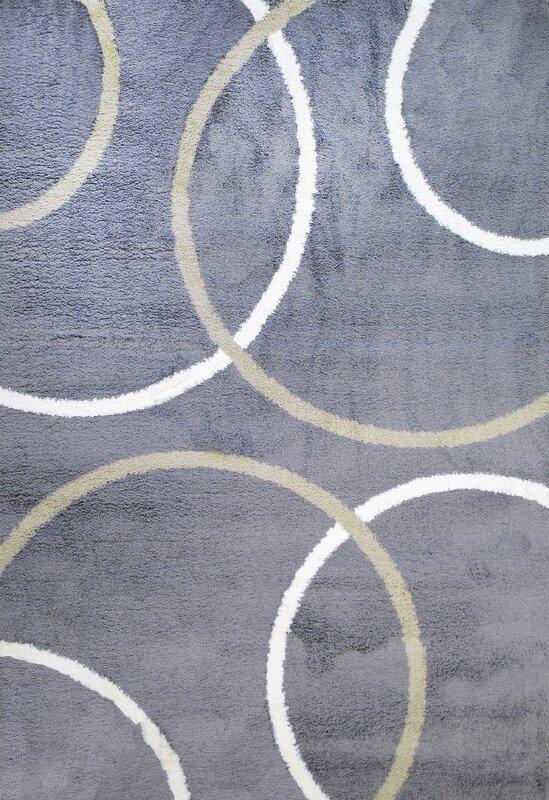 silky shag area rug