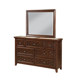 Cleveland 7 Drawer Dresser with Mirror by Bayou Breeze