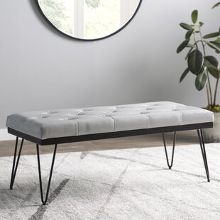 Varner Faux Leather Bench by Mercury Row