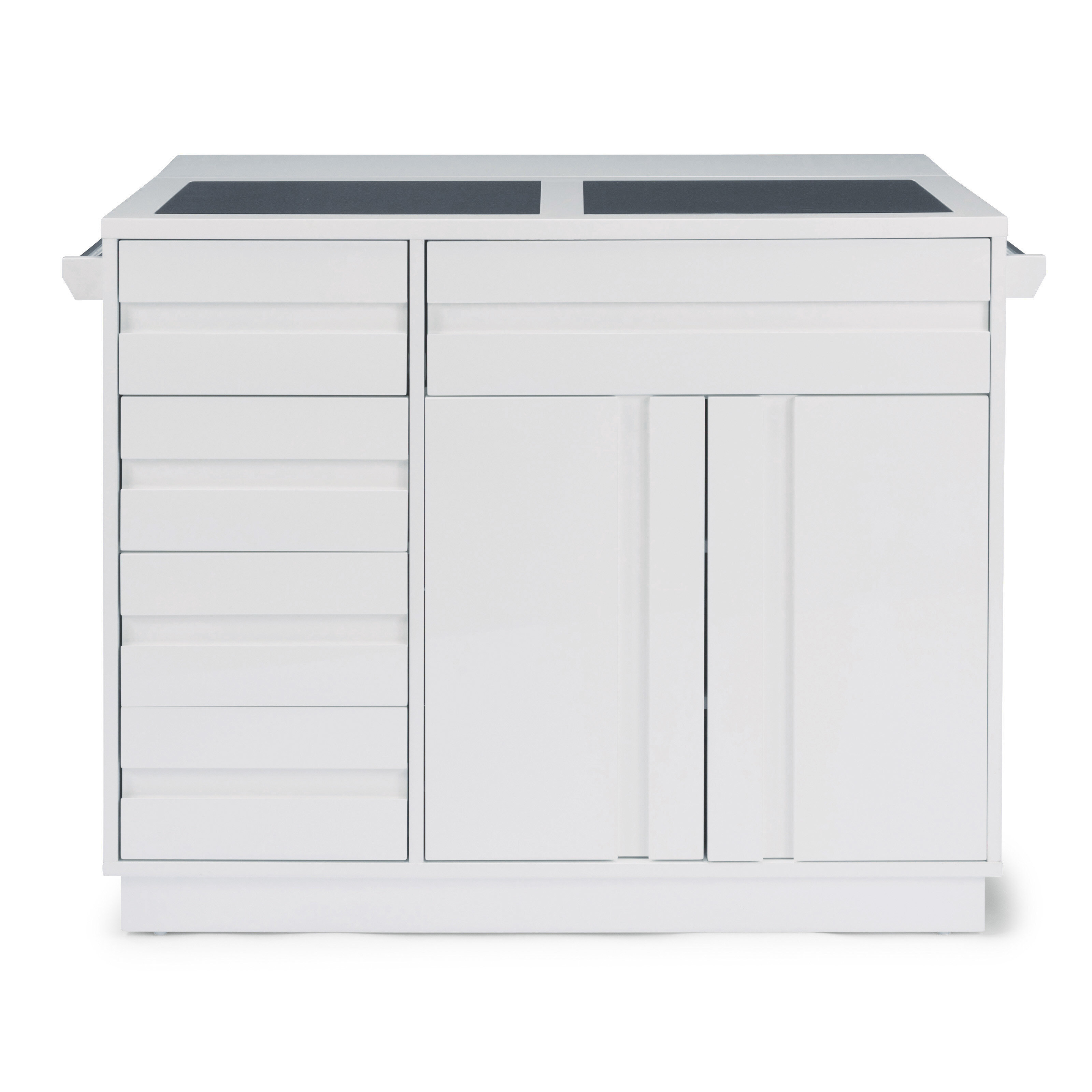 Emblyn Kitchen Island With Glass Top Reviews Allmodern