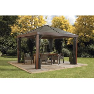 South Beach 12 Ft. W x 12 Ft. D Aluminum Patio Gazebo by Sojag