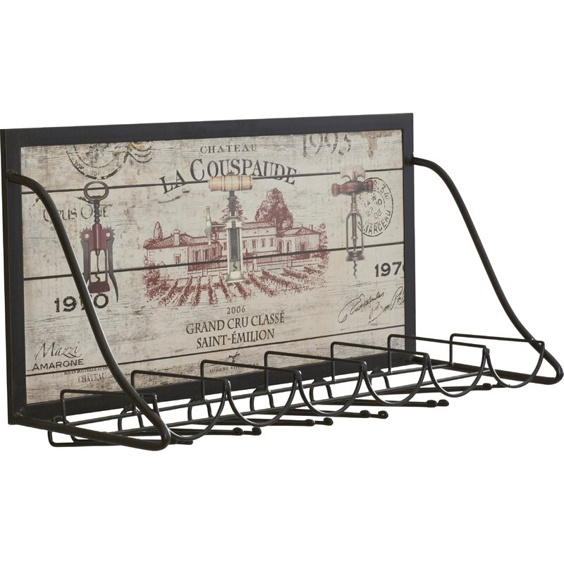 Mickael Vineyard 6 Bottle Wall Mounted Wine Rack. French Country Furniture Finds. Because European country and French farmhouse style is easy to love. Rustic elegant charm is lovely indeed.
