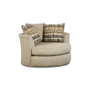 Ivy Bronx Mendiola Swivel Chair and A Half