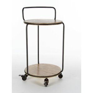 Crossville Metal Wood Bar Cart by Ivy Bronx